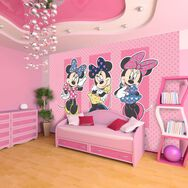 Minnie Mouse Wall Mural, , large