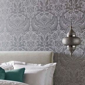 Metallic wallpaper silver gold rose gold metallic for Grey silver wallpaper living room
