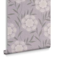 Flora Lavender Wallpaper, , large