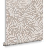 Tropic Beige and Rose Gold Wallpaper, , large