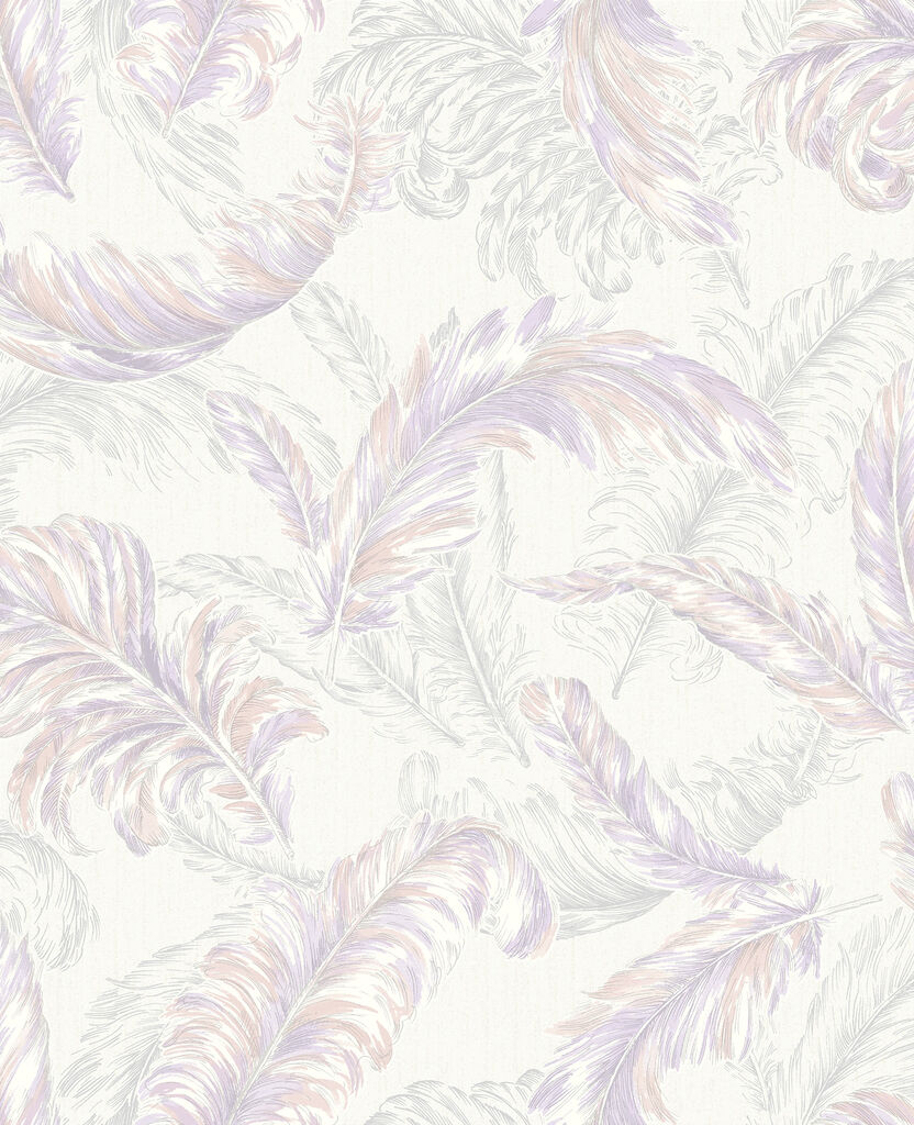 gilded feather pink and lilac wallpaper graham amp brown