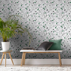 Terrazzo Green Wallpaper, , large