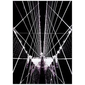 Brooklyn Brücke Struktur Bedruckter Canvas, , large