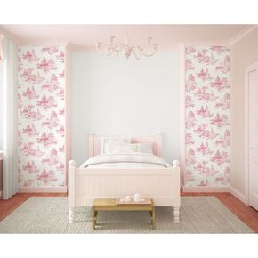 Princess Toile Pink Wallpaper