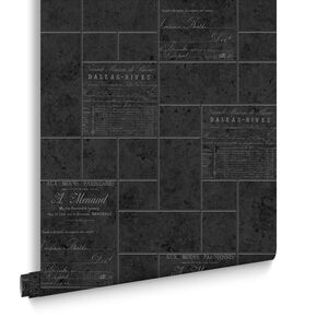 Parisienne Charcoal Wallpaper, , large