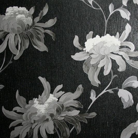 Fabulous Black and Grey Wallpaper, , large