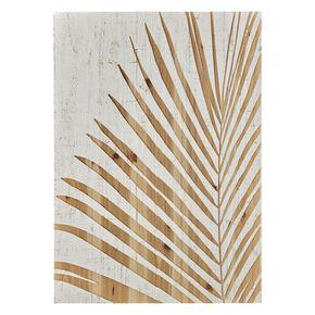 Palm Leaf Wood Panel Print On Wood, , large