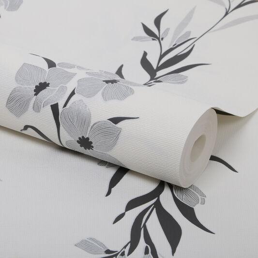 Jardin Silver Wallpaper, , large
