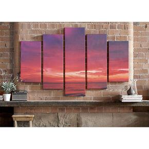 Drama Sunset Printed Canvas, , large