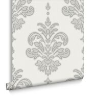 Olana Grey and White Wallpaper, , large