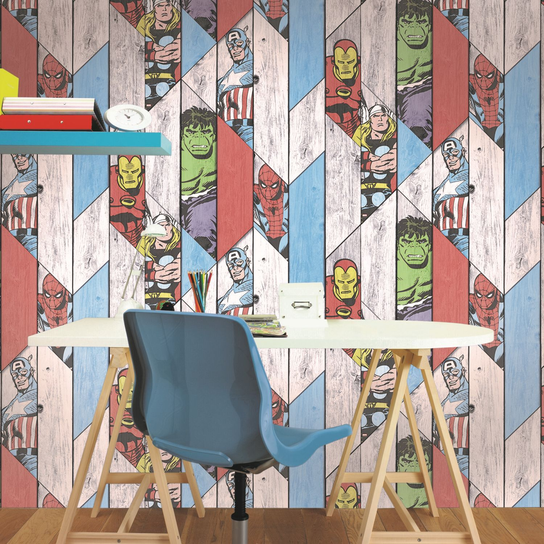 ... Large Marvel Wood Panel Wallpaper, ...