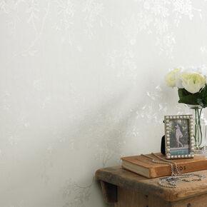 Spring Blossom Cream Shimmer Wallpaper, , large