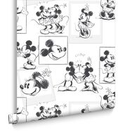 Mickey & Minnie Sketch Behang, , large