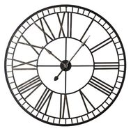 Fretwork Black & Gold Clock, , large