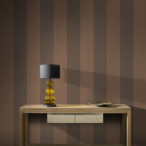 Large Artisan Stripe Copper Wallpaper