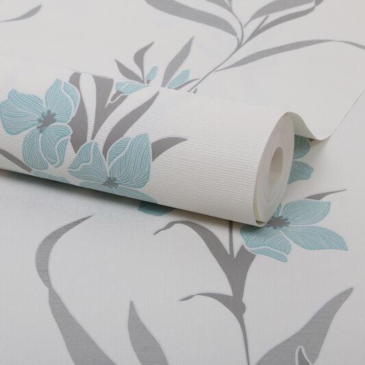 Jardin Duck Egg Wallpaper, , large