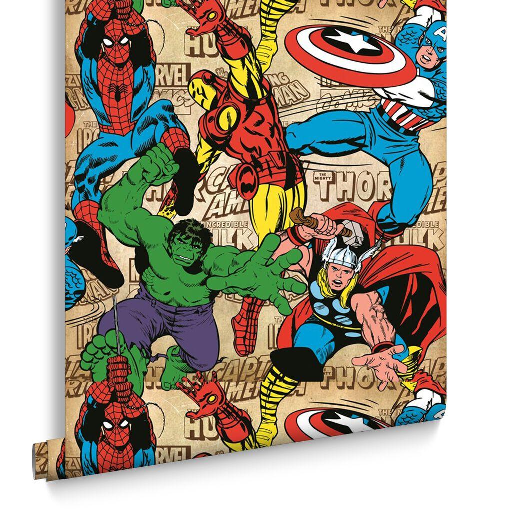 Marvel comic wallpaper for walls