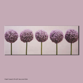 Row Of Alliums Printed Canvas, , large