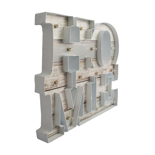 Lit Home Metal Art, , large
