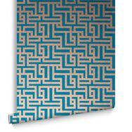 Zen Teal Wallpaper, , large