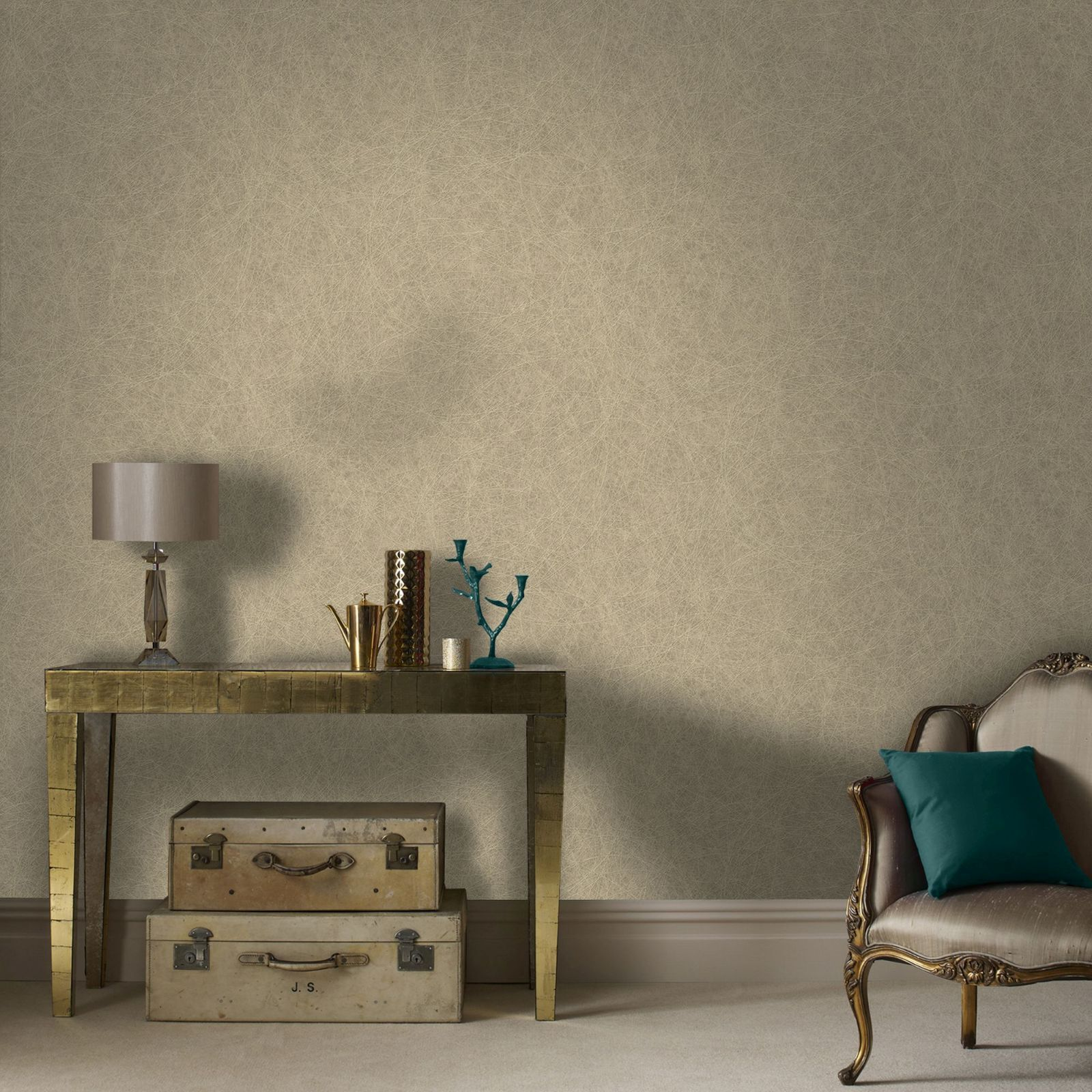 ... Large Twist Beige And Gold Wallpaper, ...