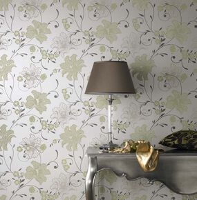 Taffetia Green Wallpaper, , large