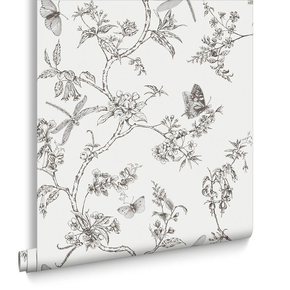 Nature Trail White Mica Wallpaper, ...