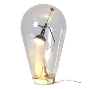 Oversized Light Bulb Glass Table Lamp, , large