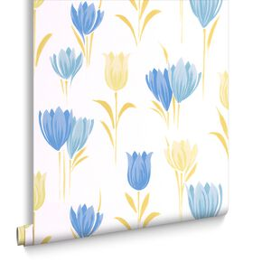 Tulip Teal Wallpaper, , large