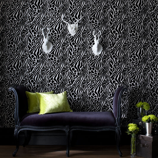 Easy Tiger Black and Silver Wallpaper, , large