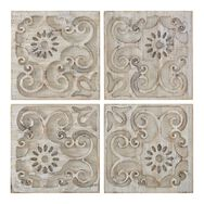 Moroccan Light Wood Set Of 4 Panels Print On Wood, , large