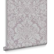 Gloriana Mulberry Metallic Wallpaper, , large