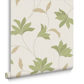 Alannah Green and Gold Wallpaper, , large
