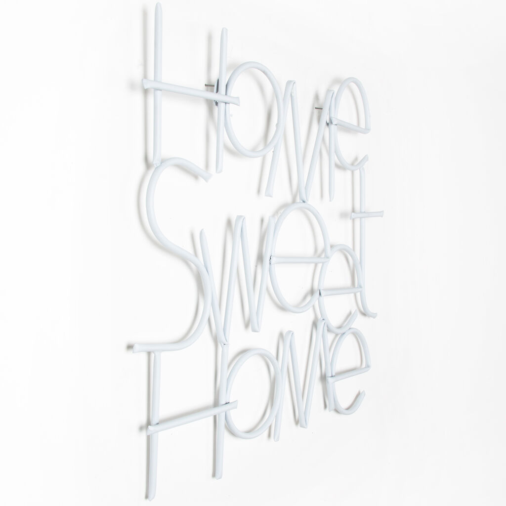 Sweet home metal wall art grahambrownuk for Decor mural metal