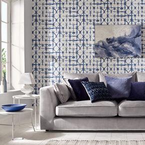 Large Indigo Blue Wallpaper