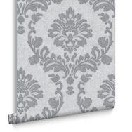 Dynasty Silver and Grey Wallpaper, , large