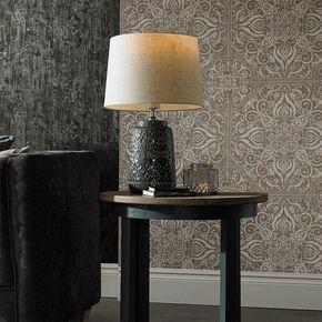 Grey Souk Patterned Lamp, , large