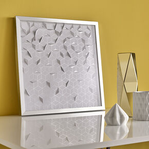 Silver Origami Framed Art, , large