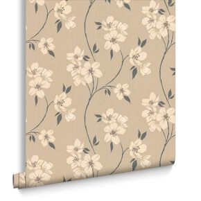 Mia Taupe and Charcoal Wallpaper, , large