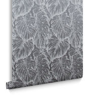 Tropical Pewter Wallpaper, , large