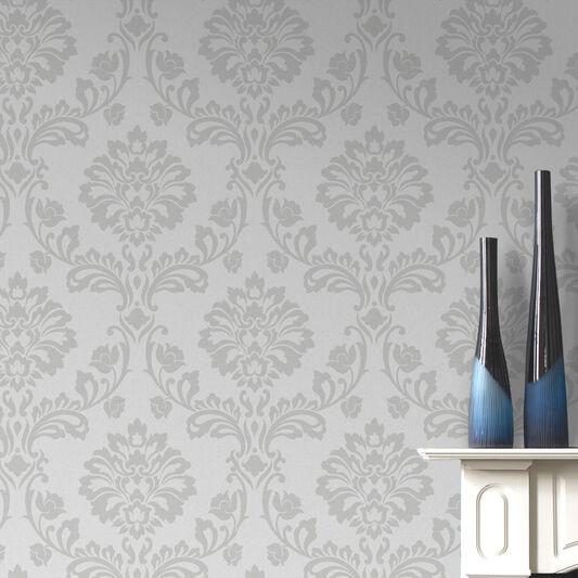 aurora white and silver wallpaper graham brown. Black Bedroom Furniture Sets. Home Design Ideas