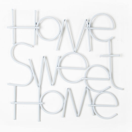 Sweet home metal wall art grahambrownuk - Decoration murale design metal ...
