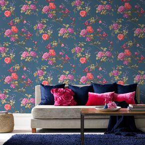 Oriental Blue Wallpaper, , large