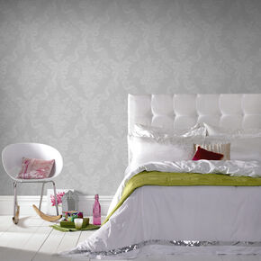 Glimmerous White Wallpaper, , large