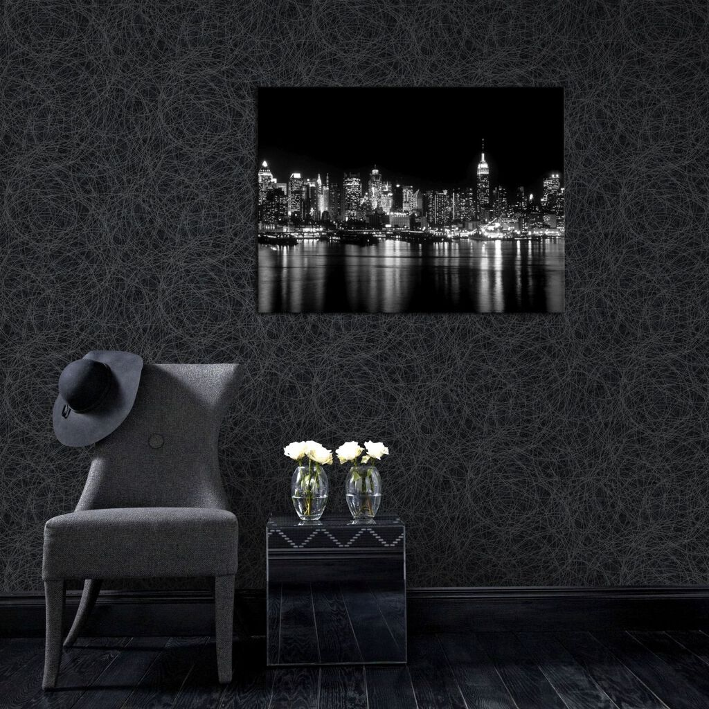 twist charcoal and silver wallpaper graham brown. Black Bedroom Furniture Sets. Home Design Ideas