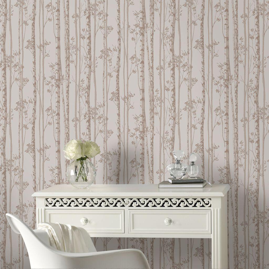linden pebble and rose gold wallpaper graham brown. Black Bedroom Furniture Sets. Home Design Ideas