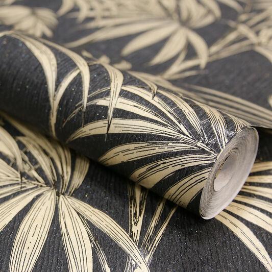 Honolulu zwart en goud grahambrownnl - Behang zwart en goud ...