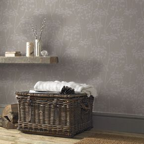 Aura Taupe Wallpaper, , large