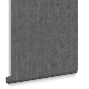 Driftwood Charcoal Wallpaper, , large