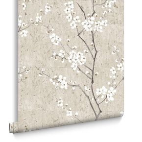 Pale Gold Sakura Wallpaper, , large